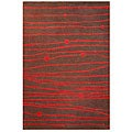 Hand-tufted Red Zoom Wool Rug (8' x 11')