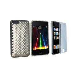 Anti-scratch Screen Protector and Shock-absorbent Case for iPod Touch