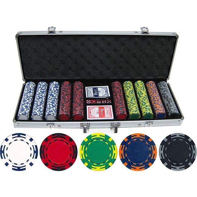 Z-striped 500-piece Clay Poker Chips