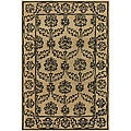 Hand-Tufted Mandara Tan Wool Area Rug (5' x 7'6)