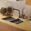 VIGO Double Bowl Undermount Stainless Steel Kitchen Sink & Faucet Set