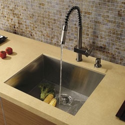 Top-Quality Vigo Undermount Kitchen Sink, Faucet and Dispenser