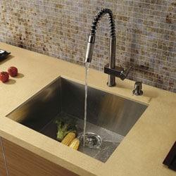 Top-Quality Vigo Undermount Kitchen Sink, Faucet and Dispenser