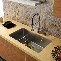 Vigo Undermount Tarnish-Resistant Stainless-Steel Kitchen Sink, Faucet and Dispenser