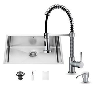 Vigo Undermount Tarnish-Resistant Stainless-Steel Kitchen Sink, Faucet and Dispenser