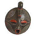 Sese Wood 'Word of Honor' Akan Mask (Ghana)