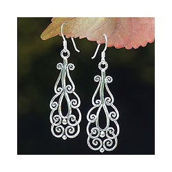 Sterling Silver 'Thai Spark' Dangle Earrings (Thailand)