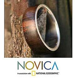 Wood 'Love of Nature' Men's Ring (Brazil)