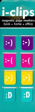 Emoticons I-clips Magnetic Page Markers (Bookmark)