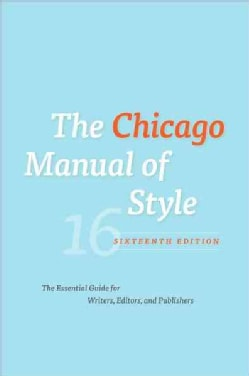 The Chicago Manual of Style (Hardcover)