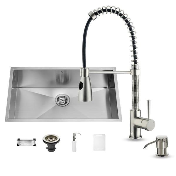 vigo undermount stainless steel kitchen sink set