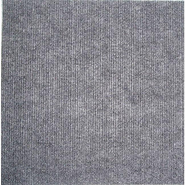 Self stick Grey Carpet Tiles 120 Square Feet Overstock