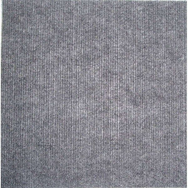 Grey Self-stick Square-foot Carpet Tiles (Case of 480)