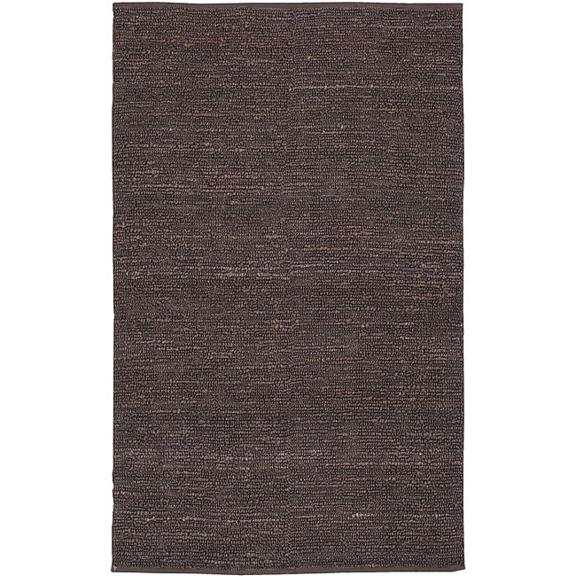 Hand-woven Chapra Purple Natural Fiber Jute Rug (8' x 11')