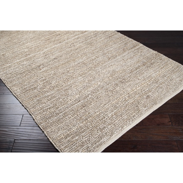 Hand-woven Chapra Bleached Natural Fiber Jute Rug (8' x 11')