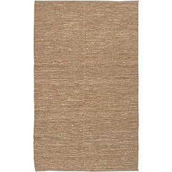 Set of 2 Hand-woven Chapra Bleached Jute Rug (2' x 3')