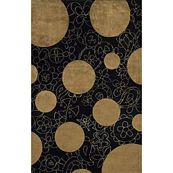 Hand-tufted New Wave Brown Wool Rug (8' x 11')