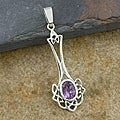 Sterling Silver Amethyst Pendant (Thailand)
