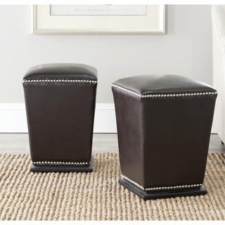 Safavieh Mason Storage Brown Bi-cast Leather Ottoman