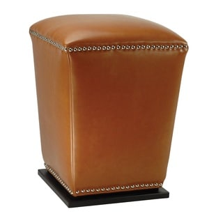 Safavieh Mason Storage Saddle Bi-cast Leather Ottoman