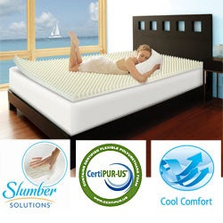 Slumber Solutions Highloft Cool 2-inch Memory Foam Mattress Topper