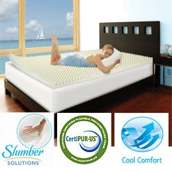 Slumber Solutions Highloft Cool 3-inch Memory Foam Mattress Topper
