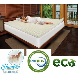 Slumber Solutions Highloft Eco 2-inch Memory Foam Mattress Topper