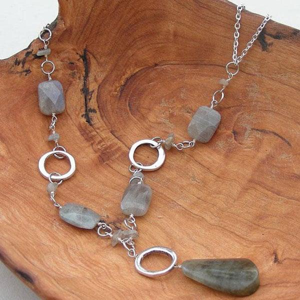 Silver Peaceful Labradorite Necklace (China)