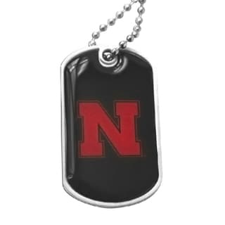 Nebraska Cornhuskers Black Dog Tag Necklace