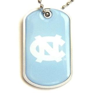 North Carolina Tar Heels Charm-chain Dog Tag Necklace