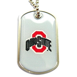 Ohio State Buckeyes Dog Tag Necklace