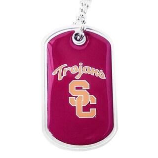USC Trojans Dog Tag Necklace