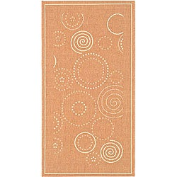 Safavieh Indoor/ Outdoor Ocean Terracotta/ Natural Rug (2'7 x 5')