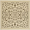 Indoor/ Outdoor Resorts Natural/ Brown Rug (7'10 Square)