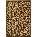 Indoor/ Outdoor Mayaguana Brown/ Natural Rug (6'7 Square)
