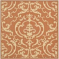 Indoor/ Outdoor Bimini Terracotta/ Natural Rug (7'10 Square)