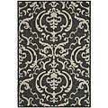 Indoor/ Outdoor Bimini Black/ Sand Rug (6'7 Square)