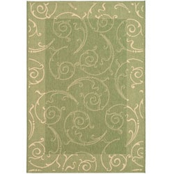Safavieh Indoor/ Outdoor Oasis Olive/ Natural Rug (5'3 x 7'7)