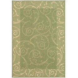 Indoor/ Outdoor Oasis Olive/ Natural Rug (5'3 x 7'7)