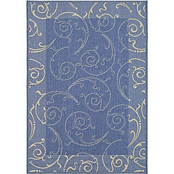Safavieh Indoor/ Outdoor Oasis Blue/ Natural Rug (5'3 x 7'7)
