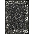 Indoor/ Outdoor Oasis Black/ Sand Rug (4' x 5'7)