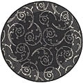Indoor/ Outdoor Oasis Black/ Sand Rug (5'3 Round)