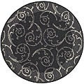 Indoor/ Outdoor Oasis Black/ Sand Rug (6'7 Round)