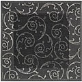 Indoor/ Outdoor Oasis Black/ Sand Rug (7'10 Square)