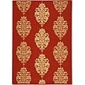 Indoor/ Outdoor St. Martin Red/ Natural Rug (6'7 x 9'6)