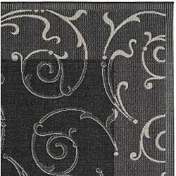 Safavieh Indoor/ Outdoor Oasis Black/ Sand Rug (5'3 x 7'7)