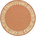 Indoor/ Outdoor Kaii Terracotta/ Natural Rug (6'7 Round)