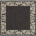 Indoor/ Outdoor Kaii Black/ Sand Rug (7'10 Square)