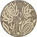 Safavieh Indoor/ Outdoor Andros Brown/ Natural Rug (6'7 Round)