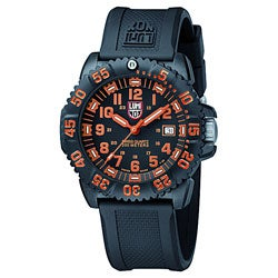 Luminox 3059 Navy Seal ColorMark Black and Orange Watch